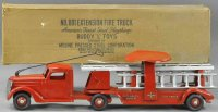 Buddy L Tin-pedal cars Lextension fire ladder ride-on...