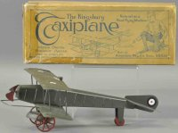 Kingsbury toys Tine Ariplanes Bi-wing taxiplane and one...