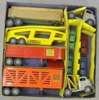 Structo Tin-Trucks Tractor trailer set with original box