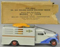 Buddy L Tin-Trucks Deluxe ride-on delivery truck toy of...