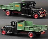 Buddy L Tin-Trucks Junior delivery truck, black enclosed...