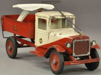 Buddy L Tin-pedal cars International dump truck of...
