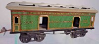 Ives Railway-Passenger Cars Baggage car #131 with eight...