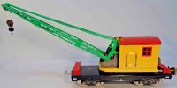 Lionel Railway-Freight Wagons Crane car #219.7 with eight...
