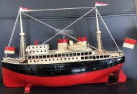 Fleischmann Tin-Ships Sheet metal steamer, hull painted...