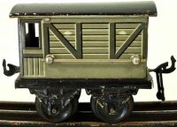 Bing Railway-Freight Wagons English brake car #M 2520...