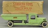 Structo Tin-Trucks Dump truck, made of sheet mteal in...