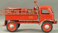 Keystone Tin-Fire-Truck Fire ladder ride-em truck, made...