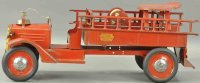 Keystone Tin-Fire-Truck Ride-em fire ledder truck with...
