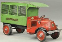 Steelcraft Tin-Trucks Railway express truck in red and...