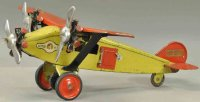 Steelcraft Tine Ariplanes Mail airplane, pressed steel,...