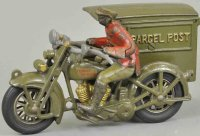 Hubley Cast-Iron-Motorcycles Harley Davidson motorcycle...