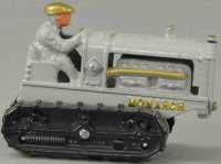 Hubley Cast-Iron Tugs-Rollers Monarch tractor in gray,...