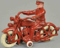 Hubley Cast-Iron-Motorcycles Motorcycle  and policeman...