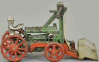 Arcade Cast-Iron Tugs-Rollers Tractor with scoop, scarce...