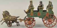 Hubley Cast-Iron-Carriages Three seat brake, cast iron, a...