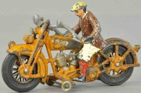 Hubley Cast-Iron-Motorcycles Harley Davidson civilian...