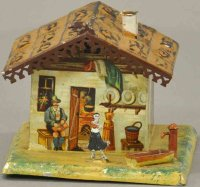 Bing Tin-Mechanical Banks Hand painted house still bank,...