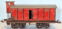 Bing Railway-Freight Wagons Box car #10/5117 with eight...