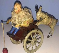 Guenthermann Tin-Clowns Clown with goat, made of tin,...