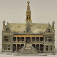 Ives Cast-Iron-Mechanical Banks Palace still bank,...