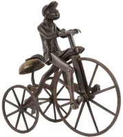 Stevens Co J. & E. Cast-Iron Figures Monkey on Tricycle...