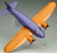 Wyandotte Tine Ariplanes Airplane #204, made of pressed...