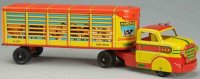Marx Tin-Trucks Marcrest livestock truck #854 with animal...