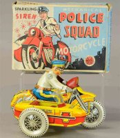 Marx Tin-Motorcycles Police squad motorcycle made of tin...