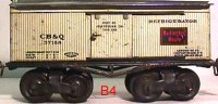 Ives Railway-Freight Wagons Box car, refrigerator car #64...