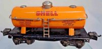Lionel Railway-Freight Wagons Shell tank car #2654.5 in...