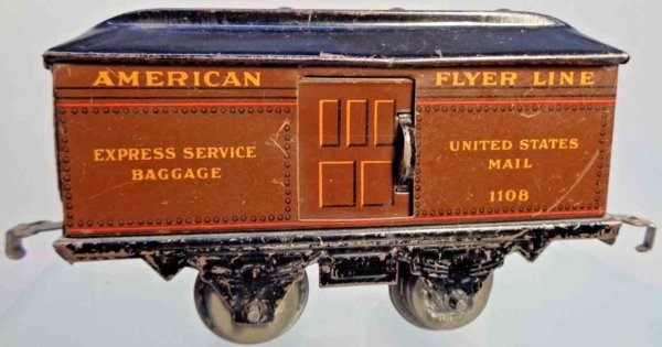 American Flyer Passenger Cars 1108 brown
