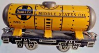 Marx Railway-Freight Wagons Santa Fé tank car #553, made...