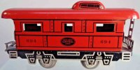 Marx Railway-Freight Wagons Caboose #694 with four...