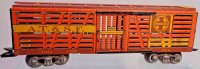Marx Railway-Freight Wagons Stock car #13549 with eight...