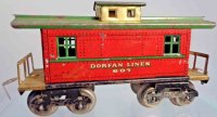 Dorfan Railway-Freight Wagons Caboose #607 with eight...
