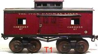 Ives Railway-Freight Wagons Caboose #67 (1913) with eight...
