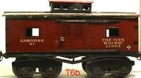 Ives Railway-Freight Wagons Caboose #67 (1917) with eight...