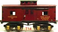 Ives Railway-Freight Wagons Caboose #67 (1930) with eight...