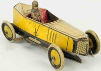 Greppert & Kelch Tin-Race-Cars Wind-up race car, made of...