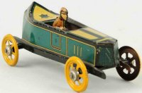 Fischer Georg Tin-Penny Toy Race car has a full bodied...