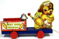 Fisher-Price Wood-Figures Hot dog wagon #764