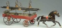 Fallows Tin-Carriages Horse drawn ladder wagon with four...