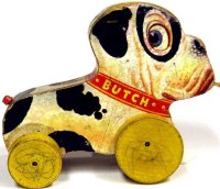 Fisher-Price Wood-Animals Butch the pup #333, made of...