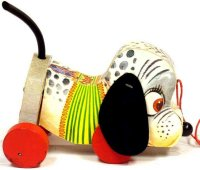 Fisher-Price Wood-Animals Nosey pup #445, made of wood,...