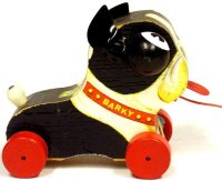 Fisher-Price Wood-Animals Barky dog #462, made of wood...