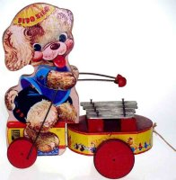 Fisher-Price Wood-Figures Fido Zilo #707, bear made of...