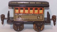 Maerklin Railway-Passenger Cars Passage car made of sheet...