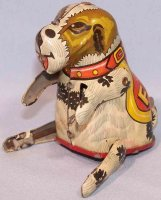 Linemar Tin-Figures Rollover dog Flippo made of tin,...