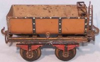 Carette Railway-Freight Wagons Dump car made of sheet...